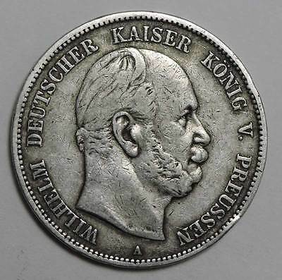 German States~Prussia 1876-A Silver 5 Mark