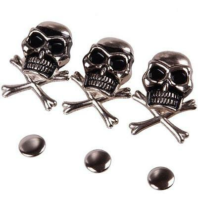 10/50Pcs 15mm Unique Skull Ghost Rivet Stud Punk for Bracelet Bag Leather Craft