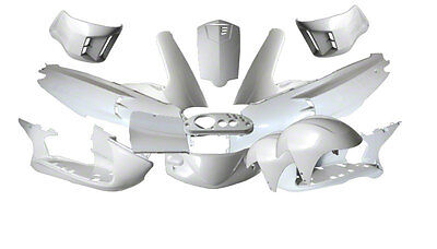 Fairing Kit 15 Fairing Parts White Metallic Gilera Runner