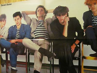 Duran Duran, Men at Work, Double Four Page Foldout Poster