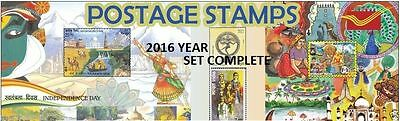 India 2016 Complete Year Set Collector Pack All Commemoratives Indiapost Stamps