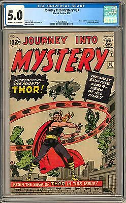 Journey Into Mystery #83 CGC 5.0 (OW-W) Origin & 1st Appearance of Thor
