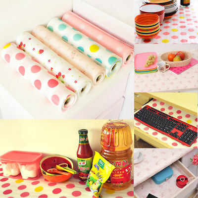300/500cm Polka Dots Shelf Contact Paper Cabinet Drawer Liner Kitchen Table Mat