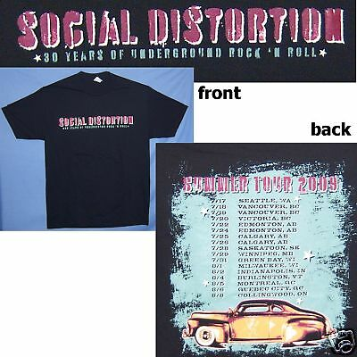 "Social Distortion ""30 Years"" Of Rock Summer 2009 Tour Blk T-Shirt Adult Xl New"