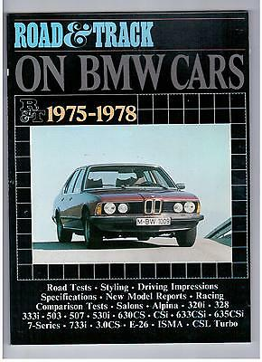 BMW Road & Track on BMW Cars 1975 - 1978 Road Tests Styling Specs Book S902