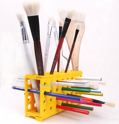 Brushes Pencils Storage Holder Box Stand Up Rack/Panti​ng Tools Desk Organizer