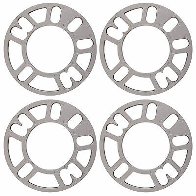 4 X 10Mm Universal Set Kit Alloy Wheel Spacers Shims Spacer 4&5 Stud Fit