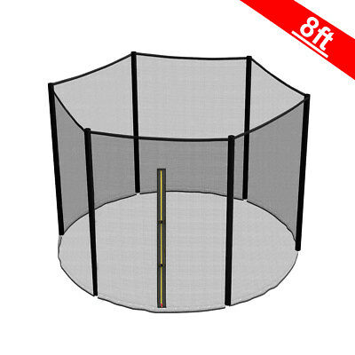 8FT Trampoline Replacement Safety Net Enclosure Surround Outside Netting New