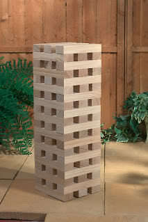 Giant Wooden Tower Jenga Garden Bbq Wedding Christmas Drinking Party Game 1.2M