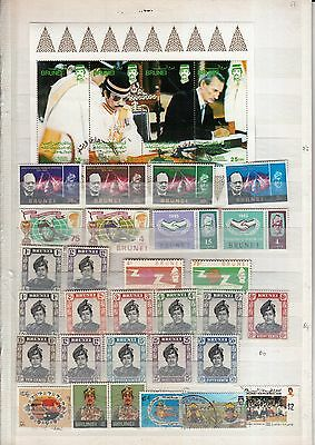 2 STOCKPAGEs of BRUNEI VALUES/MINI SHEETS MINT/USED VALUES