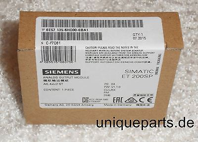 Siemens 6ES7 135-6HD00-0BA1 inkl. MwSt NEU OVP sealed new  Analog Output Module