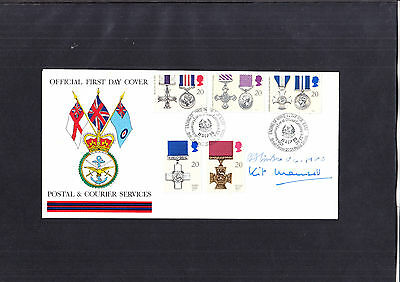 1990 Gallantry FDC signed cover
