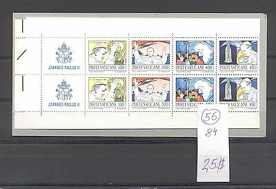 Vatican 1984 MNH booklet.Definitives.See scan.