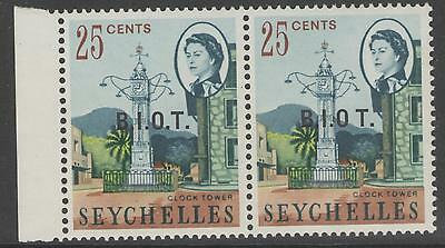 BRITISH INDIAN OCEAN TERR SG5/b 1968 25c DEFINITIVE ONE WITH NO STOP AFTER O MNH