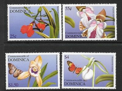 Dominica Sg3351/4 2004 Orchids   Mnh