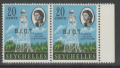 BRITISH INDIAN OCEAN TERR SG4/a 1968 20c DEFINITIVE ONE WITH NO STOP AFTER I MNH