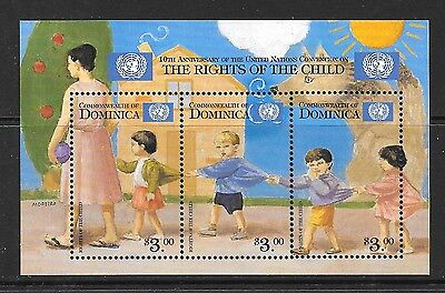 DOMINICA SG2650a 1999 RIGHTS OF THE CHILD SHEETLET MNH