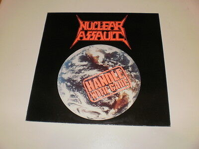 NUCLEAR ASSAULT - HANDLE WITH CARE UNDER - LP 1989 1st PRESS UNDER ONE FLAG UK