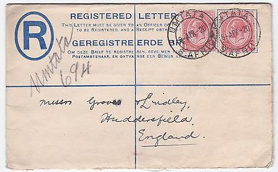 South Africa Umtata 1920 Uprated Registered stationery cover to England