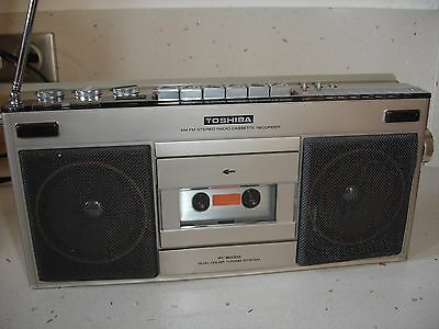 boombox radio K7 vintage TOSHIBA  RT-8000S cassette recorder stereo AM FM