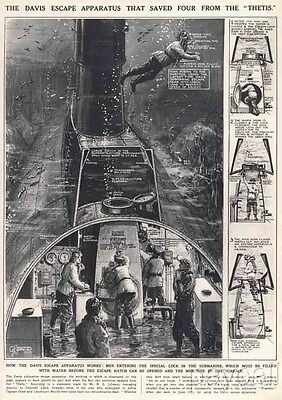 1939 Print The Davis escape Appratus that saved Four from the Thetis