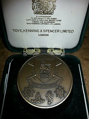 "Large medal for commanding officers competition army training regiment 2"" dia"