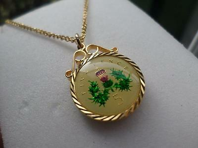 Vintage Enamelled 5 Pence Coin 1999 Pendant & Necklace. 18Th Birthday Present