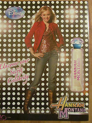 Miley Cyrus, Hannah Montana Perfume, Full Page Promotional Ad