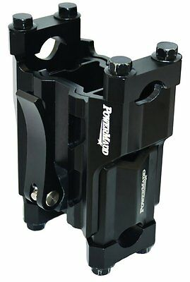 Powermadd Adjustable Height Pivot 5-8 IN Snowmobile Riser Black Universal 45590