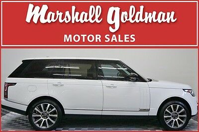 2014 Land Rover Range Rover  2014 Fuji White Ranger Rover Autobiography edition 19,350 miles pano ROOF