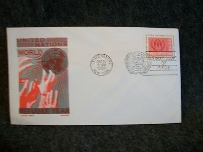 1959 4 cent United Nations World Refugee Year FDC # UN-75 Cachet Craft