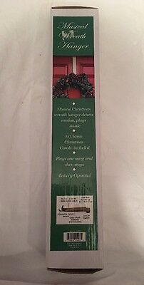 Motion Activated Musical Caroling Wreath Hanger Hook Mr. Christmas New in Box