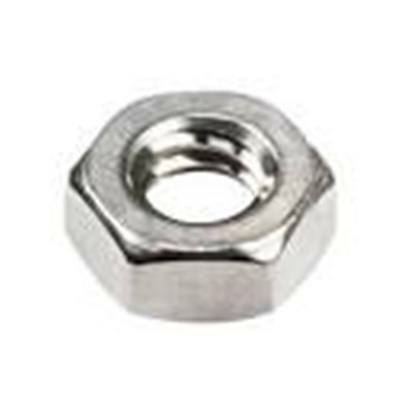 Stainless Steel Hex Machine Screw Nuts #12-24, QTY-100