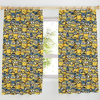 """DESPICABLE ME MINIONS 66"""" x 72"""" BEDROOM CURTAINS NEW matches duvet"""