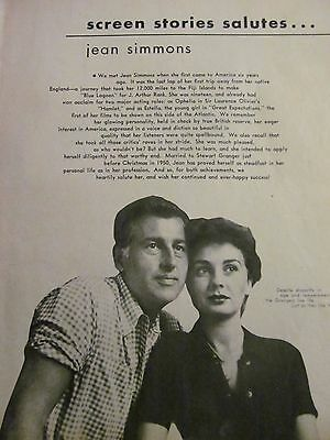 Jean Simmons, Full Page Vintage Clipping, Stewart Granger