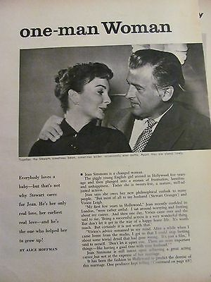 Jean Simmons, Two Page Vintage Clipping, Stewart Granger