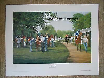 The Paddock Terence Macklin Fine Art Limited Edition Horse Racing Picture Print