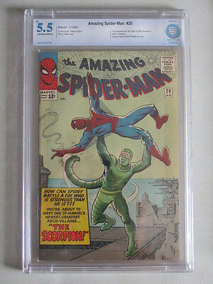 Amazing Spider-Man #20 1965 CBCS 5.5 OW/W Pages