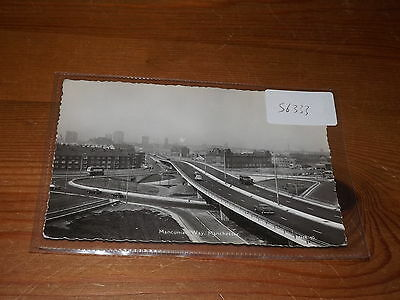 Old  postcard our ref #56333 MANCUNIAN WAY MANCHESTER MOTORWAY