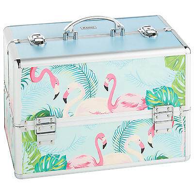Beautify Large Flamingo Beauty Case Professional Cosmetic Makeup Vanity Nail Box