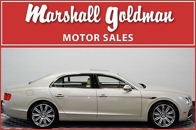 2015 Bentley Flying Spur  2015 Bentley Flying Spur White Sand Newmarket tan and Magnolia 9400 miles