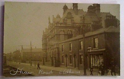 Rp Postcard - Early C1910 Shaw Road Oldham  Lancashire Rare!
