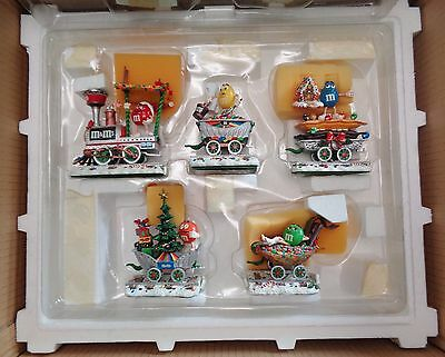 Danbury Mint M&M's Christmas Train Set MIB