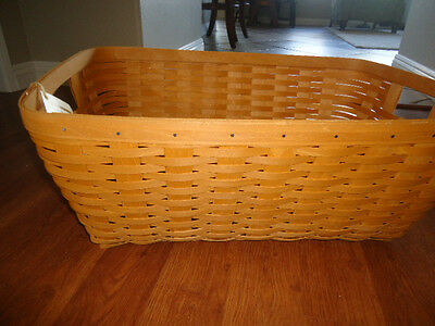 Longaberger Small Laundry Basket Plastic Protector  - NEW