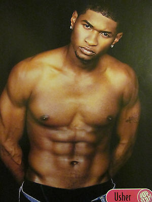 Usher, Shirtless, Orlando Bloom, Double Full Page Pinup