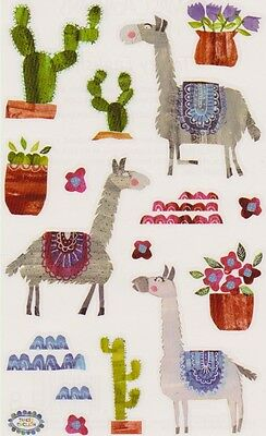 2 Strips Grossman/'s Giant Stickers Collaged Cacti Cactus in Pots Mrs