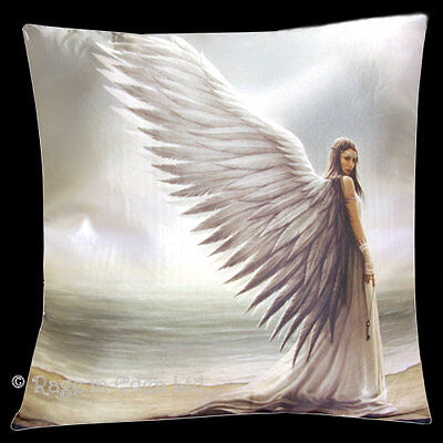 *SPIRIT GUIDE* Goth Fantasy Angel Art Cushion By Anne Stokes