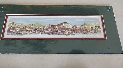 Longaberger Mary Ann Bucci signed and matted print of Dresden Ohio, great item!