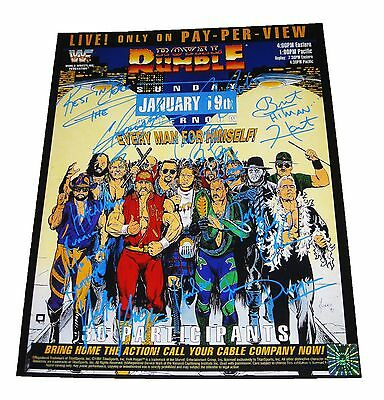 Wwe Royal Rumble 1992 Signed Autographed 16X20 Ppv Poster By 7 With Hogan Coa