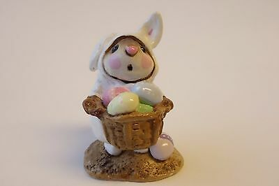 Wee Forest Folk Easter Bunny Mouse M-82 Miniature Figurine WHITE RABBIT SUIT